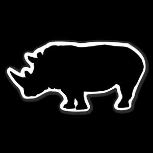 Noshörning siluett sticker