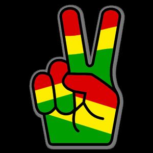 Rasta peace fingers stickers