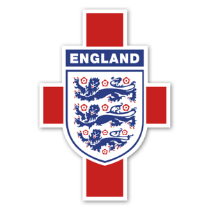 England Crest with flag sticker
