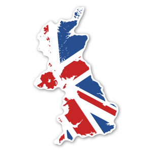 england map sticker