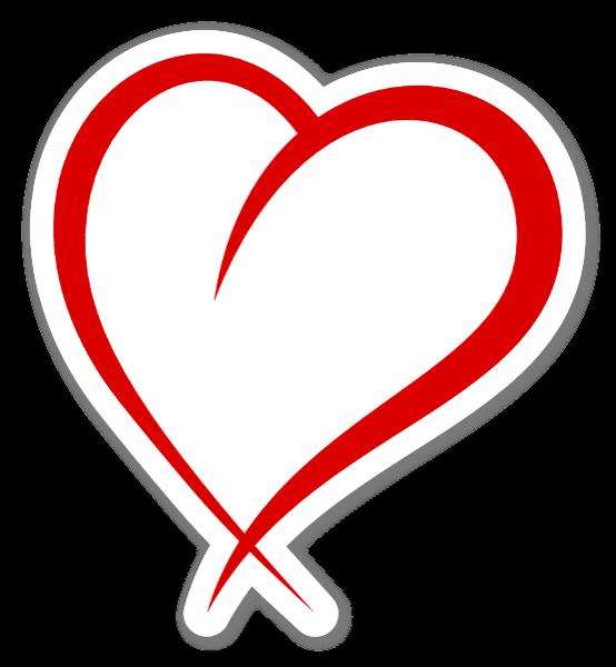 Aufkleber Herz