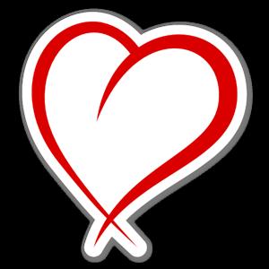 Hjärta i tecknad stil sticker