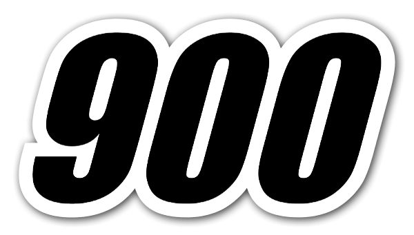 Racing number 900 sticker