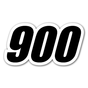 Racing Nummer 900 sticker