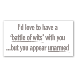 Battle of wits sticker