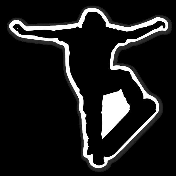 Skateboard flip siluett sticker