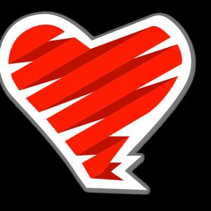 Kärleks bandage sticker