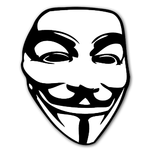 The Guy Fawkes mask sticker