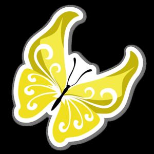 Gul fjäril sticker