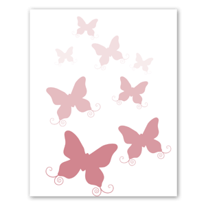 Papillons roses sticker