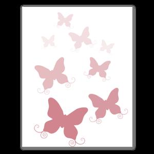 Rosa Schmetterlingsschwarm Aufkleber