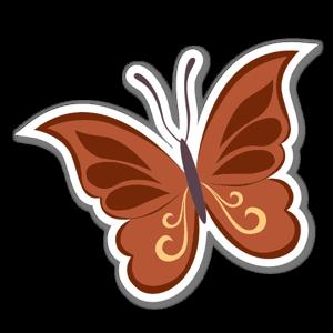 Brun Fjäril sticker