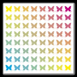 Butterfly Rainbow Aufkleber