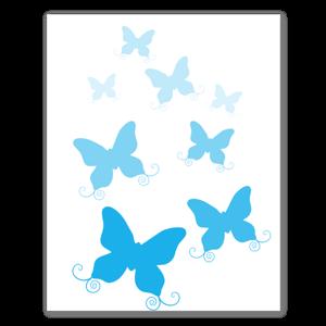 Blauer Schmetterlingsschwarm Aufkleber