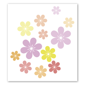 Beautiful flowers sticker