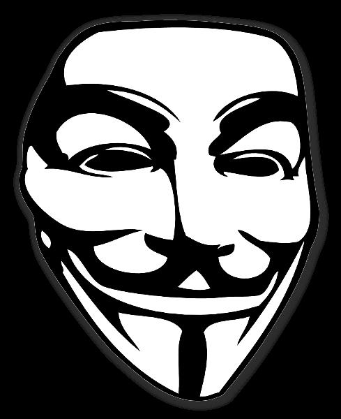 ガイ・フォークスのマスク ホワイト ステッカー