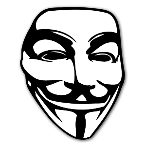 Guy Fawkes sticker mask