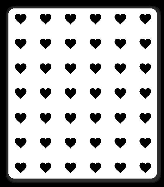 Aufkleber Herzchen