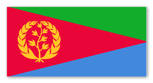 Eritrea flag sticker
