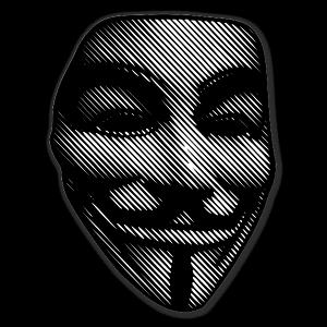 Guy Fawkes Raster mask sticker