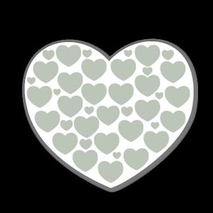 Hjärtan med hjärtan pastell blå sticker