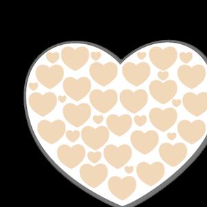 Gula hjärtan med hjärtan pastell sticker
