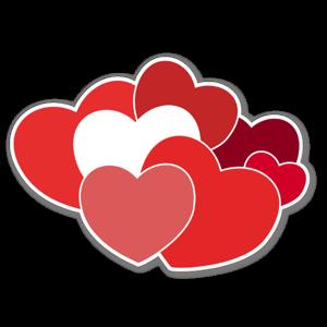 Klippta Hjärtan sticker