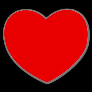 rött hjärta sticker