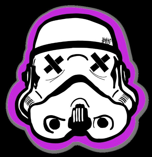 Svart og rosa Trooper klistremerker
