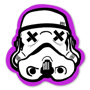 Black pink Trooper sticker