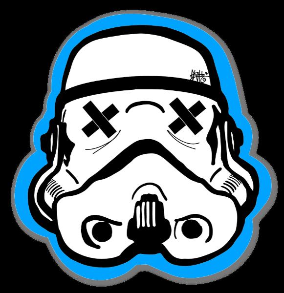 Blue Black Trooper sticker
