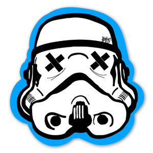 Blue Black Trooper sticker