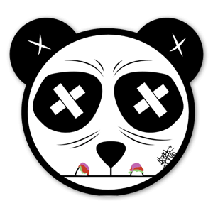 Sloth Panda Sticker
