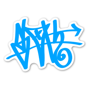 Sloth Blue Tag Sticker