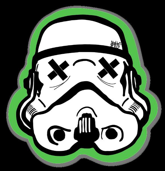 Green Black Trooper klistermærker