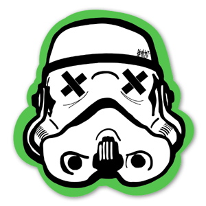 Green Black Trooper sticker