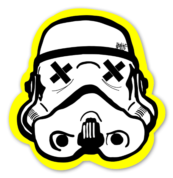 Yellow Black Trooper sticker