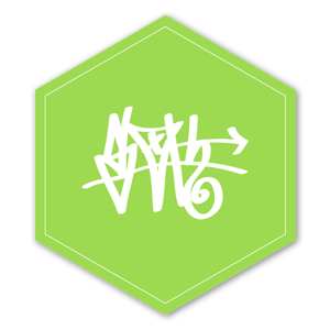 Green D Tag Sloth sticker