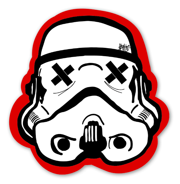 Red Black Trooper Sticker