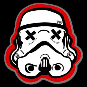 Red Black Trooper Sticker