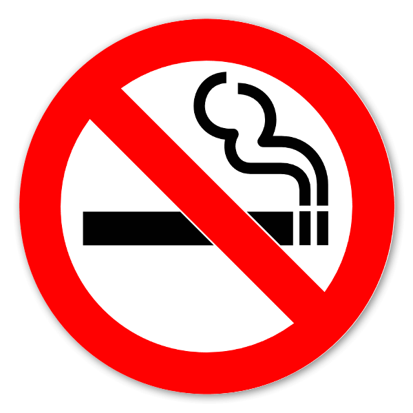 Rökning förbjuden klistermärke sticker
