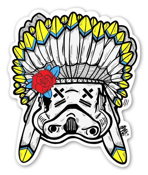 Sloth chief trooper sticker