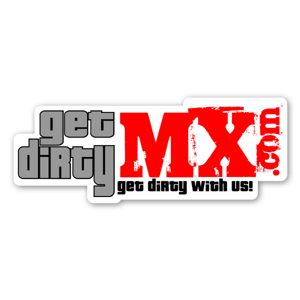 Get Dirty MX Red sticker
