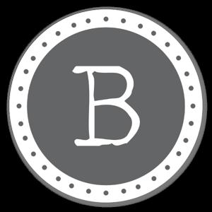 Monogram Gray B