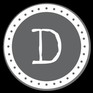 Lettre D sticker