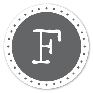 Monogram Gray F Etiketter