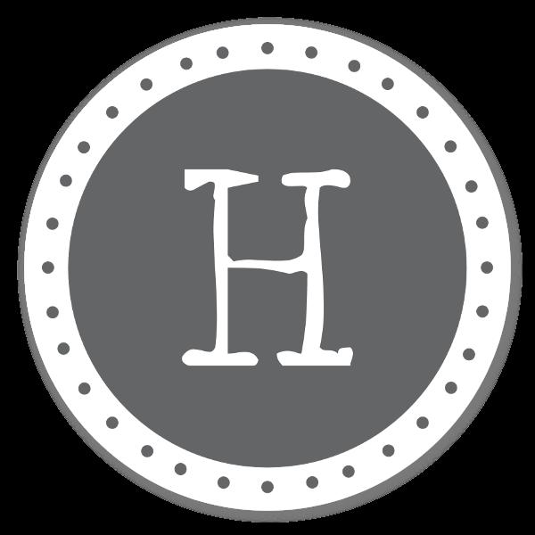 Monogram Gray H Etiketter