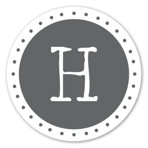 Monogram Gray H