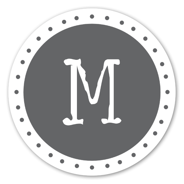 Lettre M sticker