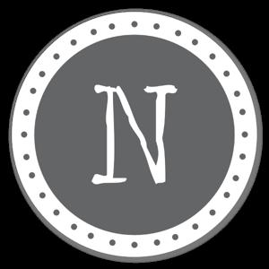 Lettre N sticker